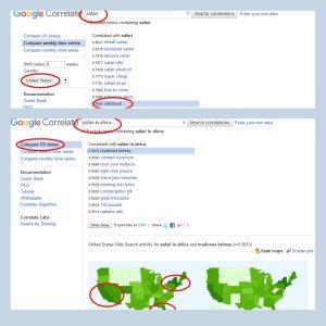 google correlate safari