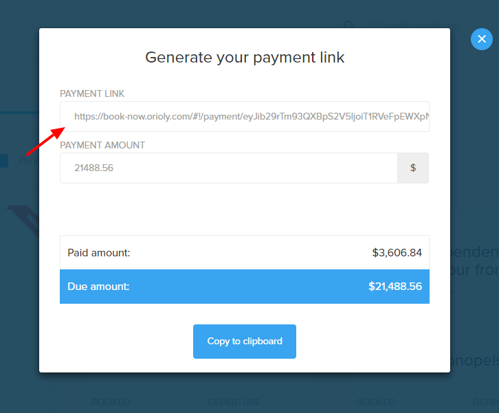 email payment link