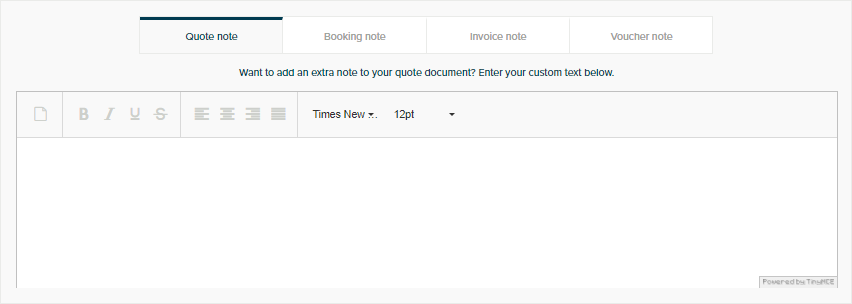 Additional Note - Invoicing - Orioly Documentation