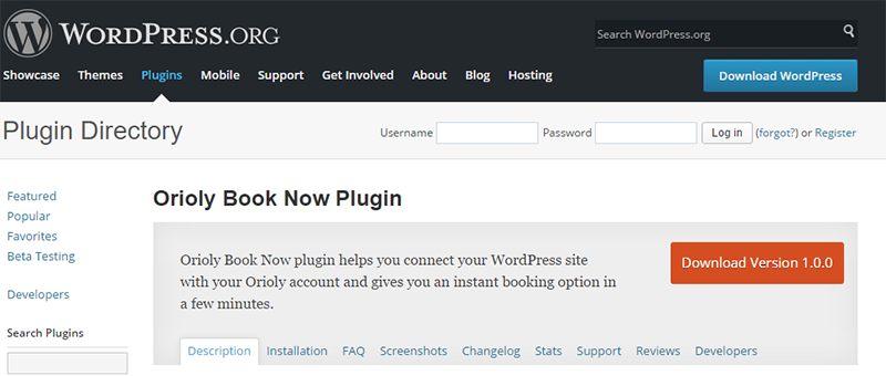 orioly, create, booking, book, now, plugin, wordpress, plugins