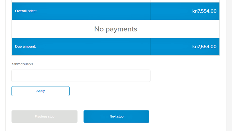 orioly, create booking, payments, coupon, support