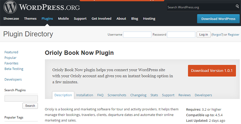 orioly, book now, plugin, wordpress, booking, system