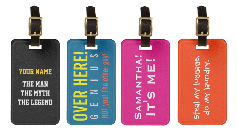 luggage tag, Travelers Loyalty, book now, online booking, traveler gift idea, gifts for travelers, funny luggage tags,  travelers loyalty