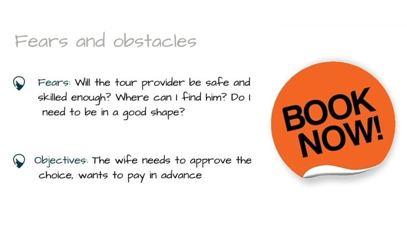 ideal customer, defining ideal customer, traveler's fears and obstacles, tour operators, online booking, book now