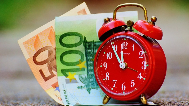 productivity, maximization, money, time, clock, euros, orioly