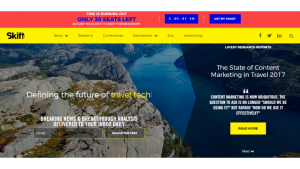 skift, travel websites for tour operators, travel websites, travel industry, travel websites to learn from, tour and travel, travel news, travel indutry trends, website