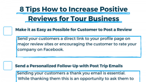increase positive reviews for tour and activity providers
