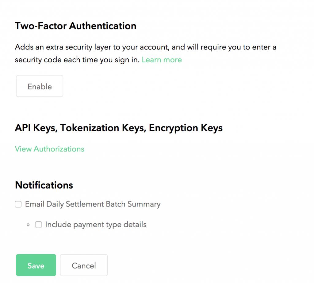 braintree authentication
