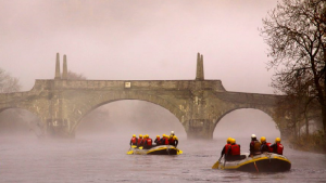 rafting, tour company, online tour booking system, sunset, river, bridge