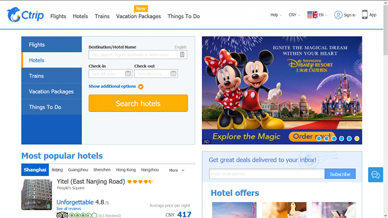 distribution channels for tours and activities, online travel agent, marketplace, booking, ctrip