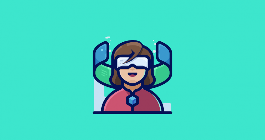 Illustration representing the benefits of virtual reality in tourism