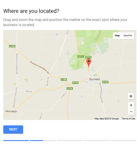 Google My Business for Tour Operators - Step 3 - Pin map location