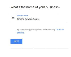 Google My Business - Step 1 - List your tour operator business on GMB
