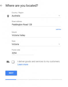 Google My Business - Step 2 - Where are you located