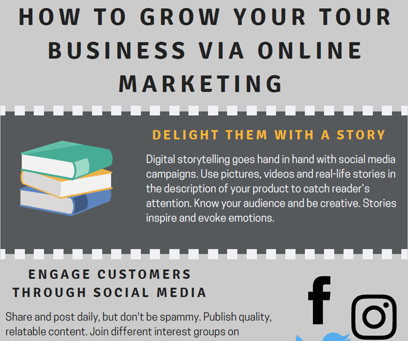 Learn how to grow your tour business via online marketing - Orioly blog
