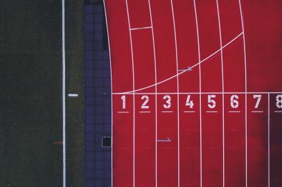 Running track seen from above.