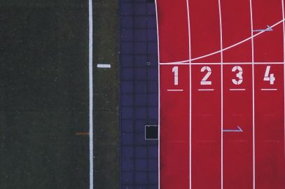 Run track representing top portions