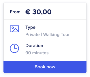 Orioly extended booking button widget