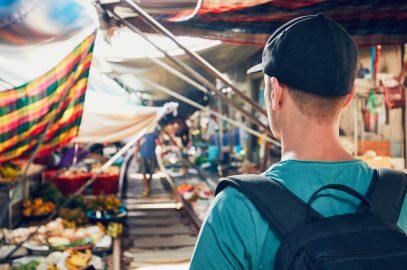 Niche tourist walking on a niche market
