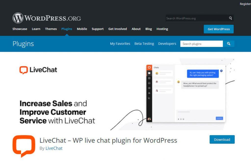 LiveChat WordPress plugin screenshot