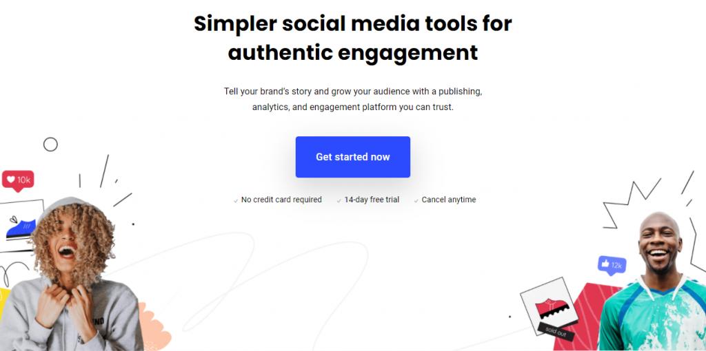 Buffer website screenshot
