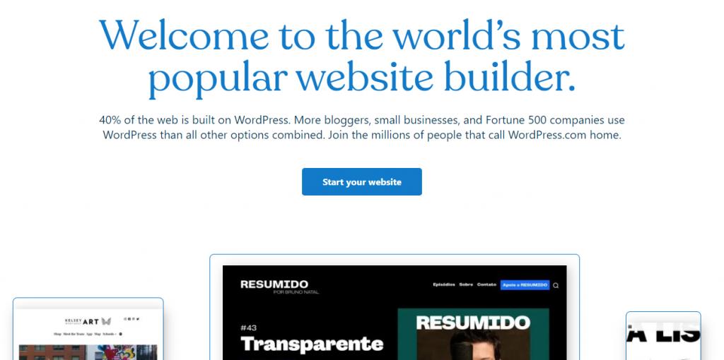 WordPress website screenshot