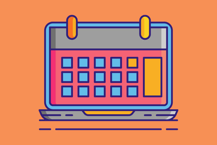 Calendar illustration representing how tour operators can stay top of mind