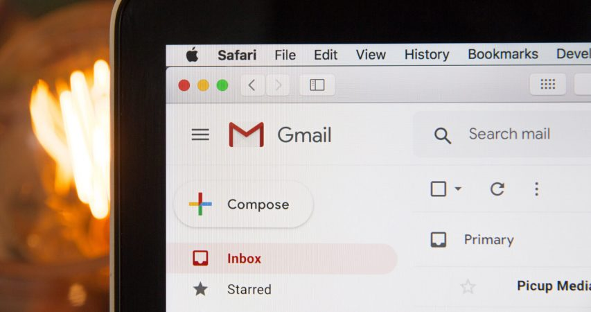 Photo of the gmail inbox representing email marketing for tour operators