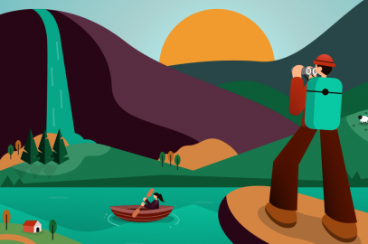 Illustration representing how tour operators can stay top of mind for customers