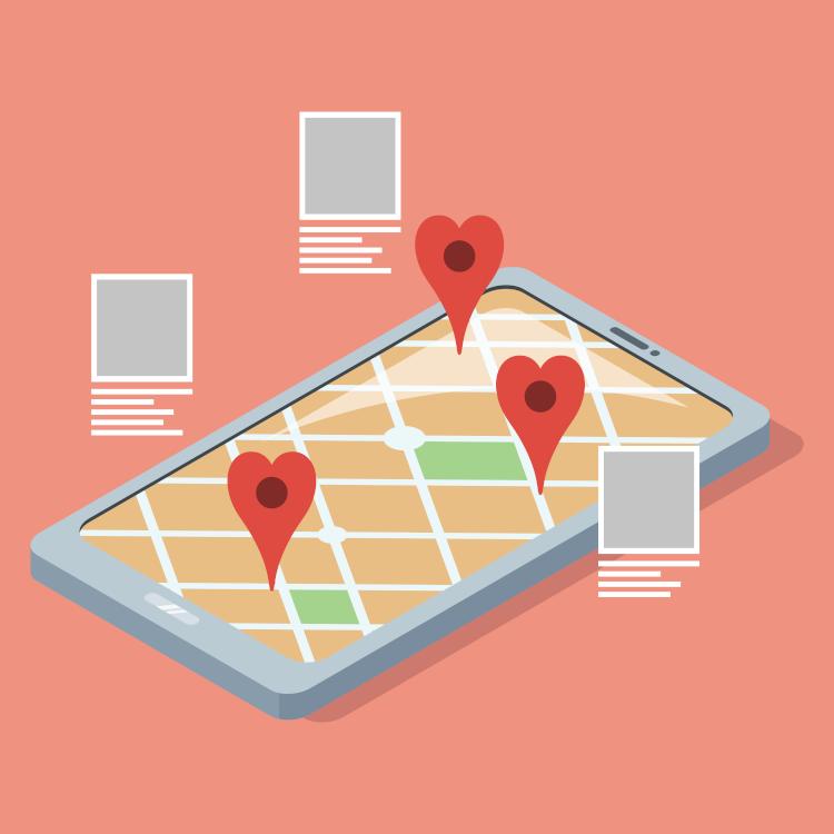 The art of storytelling tour operators map illustration