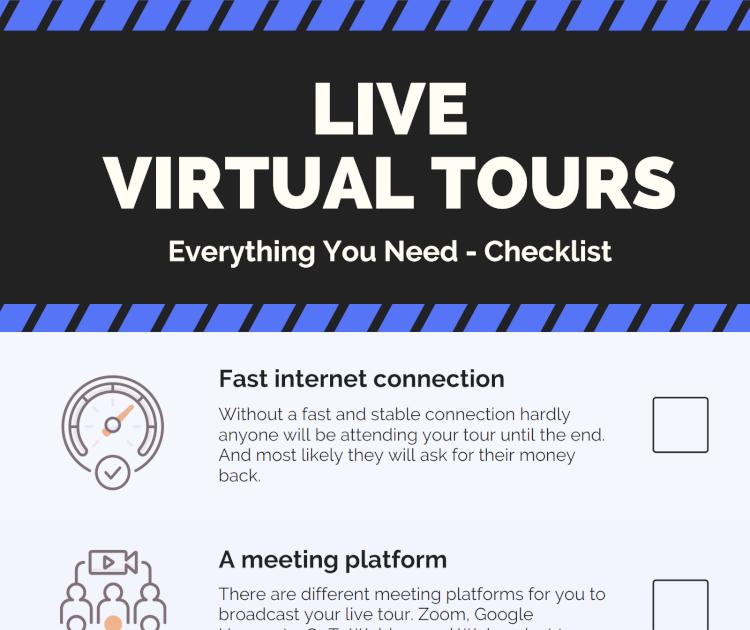 Checklist live tours screenshot
