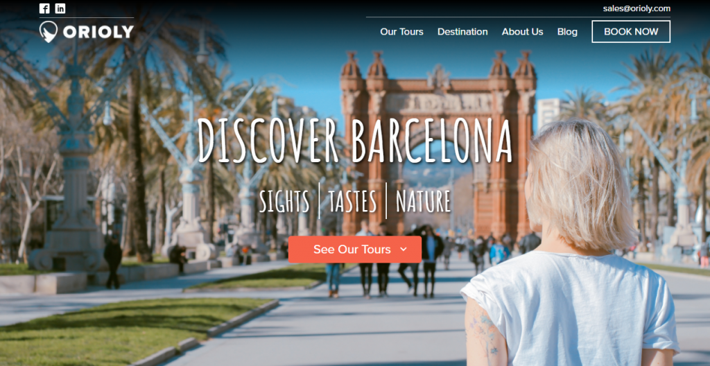 Distribution channels in travel and tourism your website screenshot