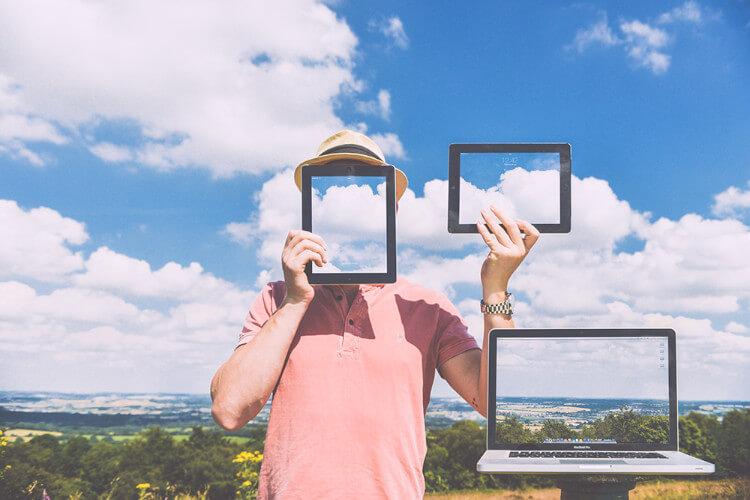Nature laptop outside macbook online booking advantages disadvantages