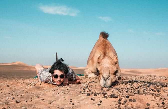 man next camel