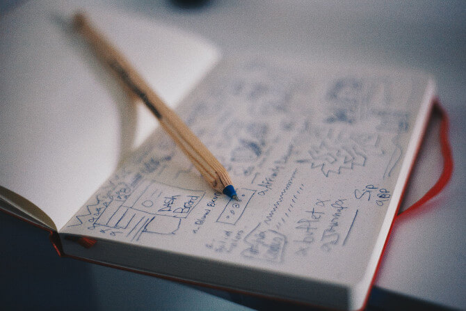 notebook pencil notes starting a tour operator business
