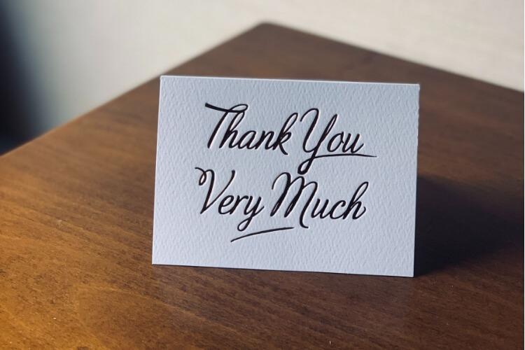 kartica zahvale