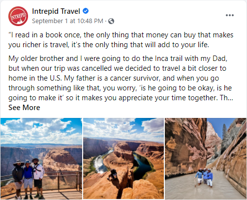 intrepid travel review tours facebook