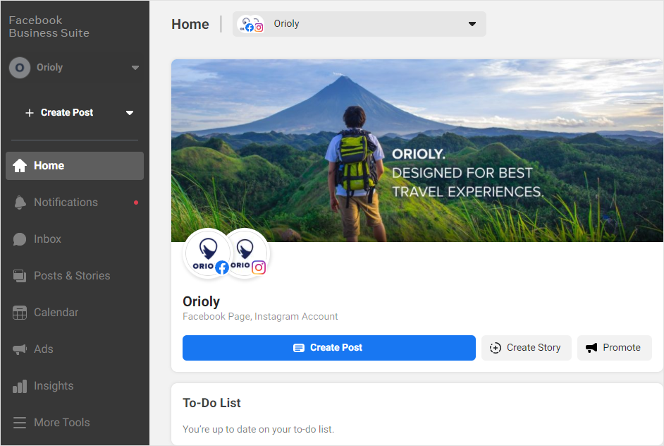 orioly business suite screenshot tours facebook